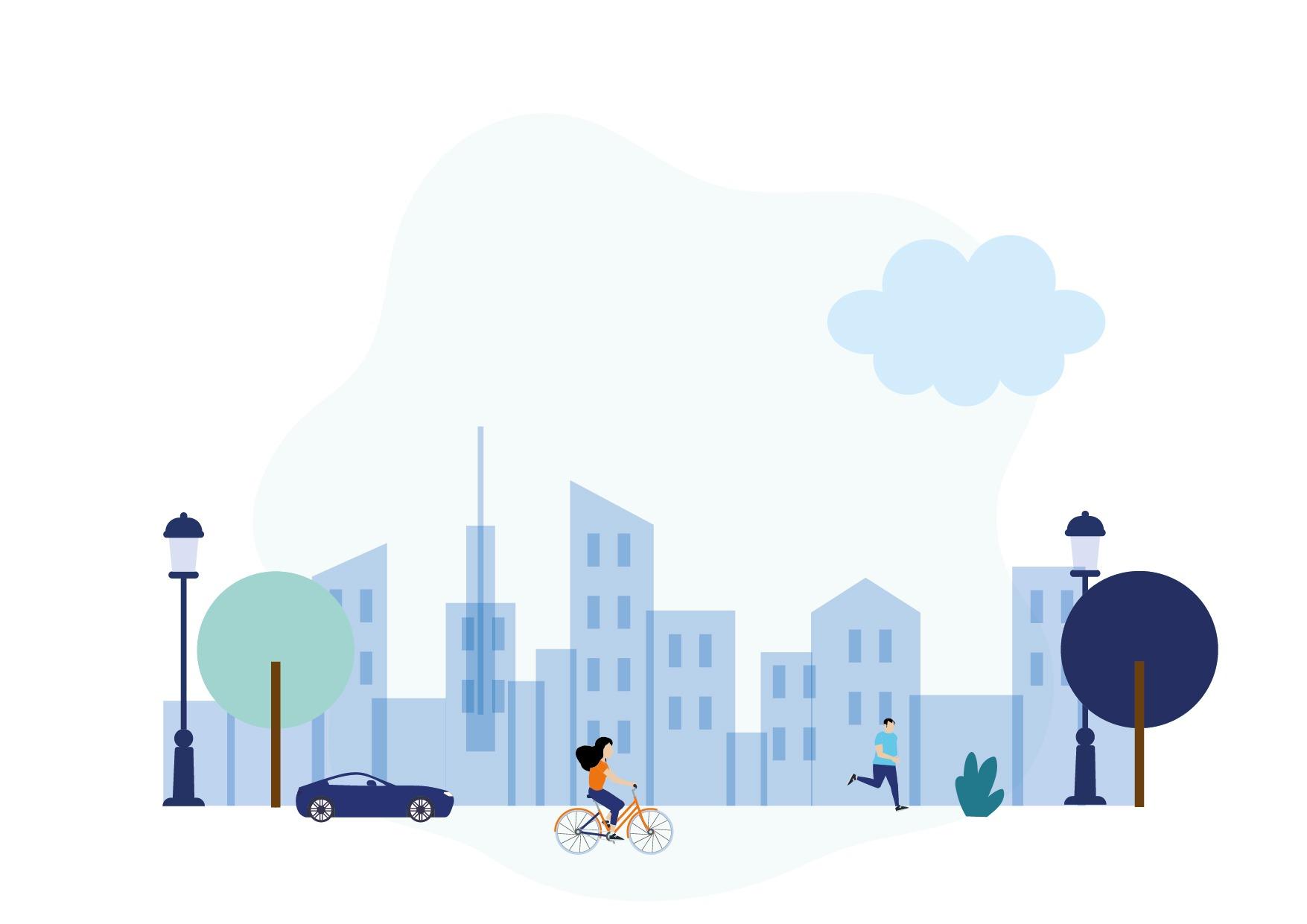 Illustration Ville, humain, bâtiment-03