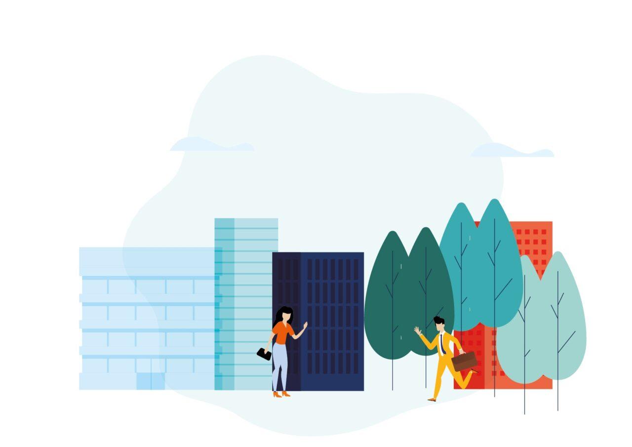 Illustration Ville, humain, bâtiment-09