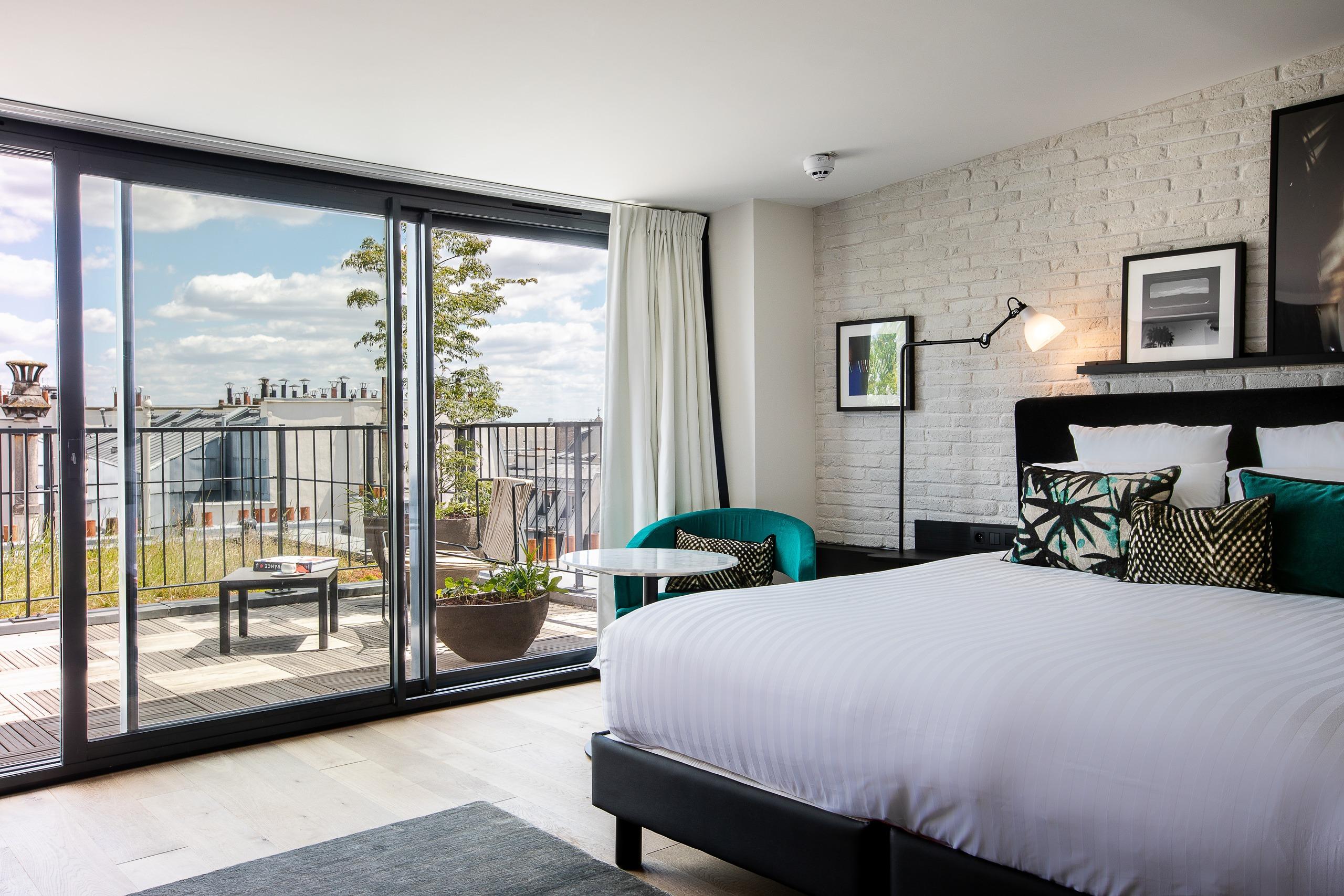 Chambre du LAZ' Hotel Paris